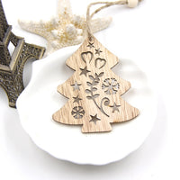 Creative Christmas Wooden Pendants Ornaments - DIY Wood Crafts - Elegant Shoppers