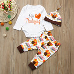 Newborn Infant Thanksgiving Romper Sets - Elegant Shoppers