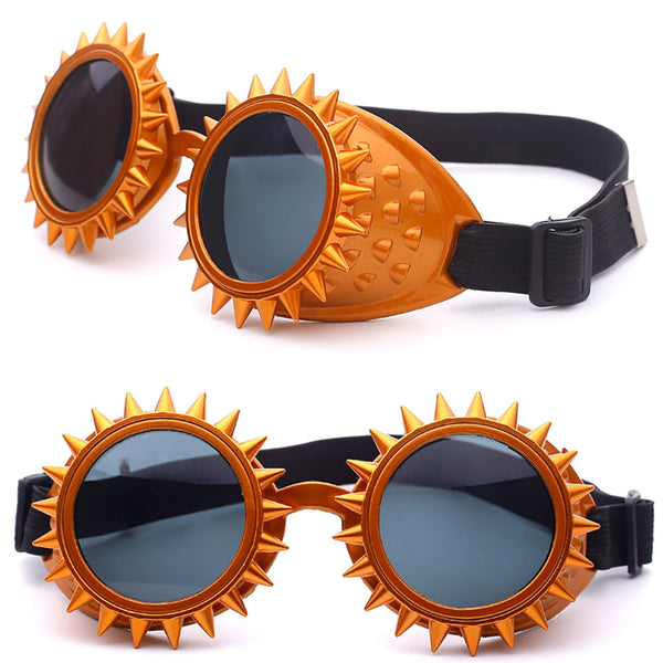Elegant Orange Kaleidoscope Rave Festival EDM Glasses - Elegant Shoppers