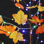 Maple Leaf Decorations String Lights - 10 Fairy LEDs Fall Garland Thanksgiving Decoration Holiday Lights - Elegant Shoppers
