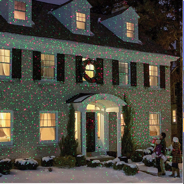 Waterproof Red And Green Christmas Projector