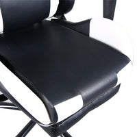 T-Shaped Home Office Chair High Back Swivel Chair Racing Gaming Chair Office Chair with Footrest Tier - Elegant Shoppers
