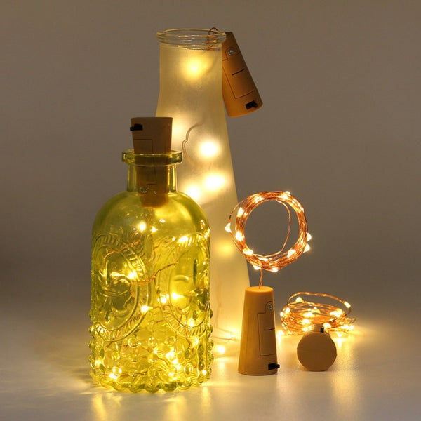 Holiday Multi-Color LED Garland Copper Wire String Fairy Lights for Glass Craft Bottle