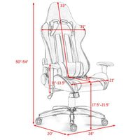 Costway Executive Racing Style High Back Reclining Chair Gaming Chair Office Computer (Black+Red)
