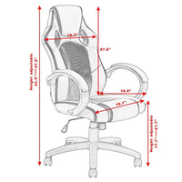 Costway High Back Racing Chair Bucket Seat Office Desk Gaming Chair Swivel Executive New - Elegant Shoppers