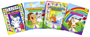 Activity Books For Kids Age 3-5 - Pack of 4 Includes It's Fun to Color by Color 2-4 Colors and 5-8 colors, Color by the Picture,