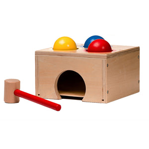 Durable and Colorful Wooden Pounding Bench Toy for Toddlers