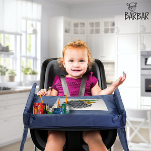 Kids Snack & Play Travel Tray (Black)