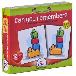 BooKid Make a Match Can You Remember Puzzle for Kids with Twelve Pairs (24+ Months)