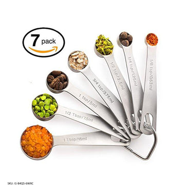 Palada All in One Set of 7, 430 Stainless Steel Engraved Measuring Spoons