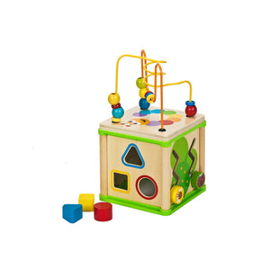 Wooden Toys - Activity Cube - 5 Activities in 1 box