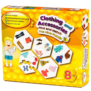 Find and Match Toddlers Puzzle Games - Clothing and Accessories. For 4+ Years Old