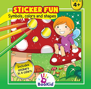Children's Activity books for Age 4 + Stickers, Shapes Mosaic and coloring - Small Travel Size (6.6 x 6.3 inches) Pack of 4