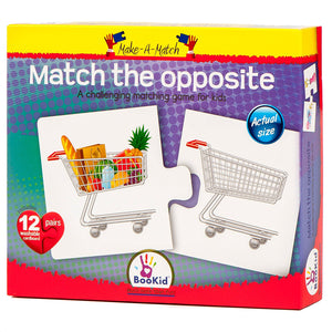 BooKid Make a Match Opposite Puzzle for Kids with Twelve Pairs (24+Months)