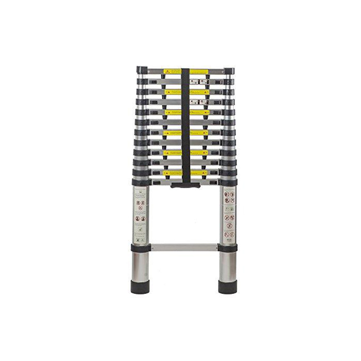 12.5 Ft Extendable Telescoping Aluminum Portable Ladder