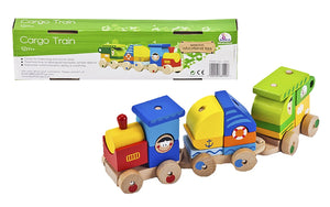 Wooden Toys - Building Blocks - Stacking Cargo Train