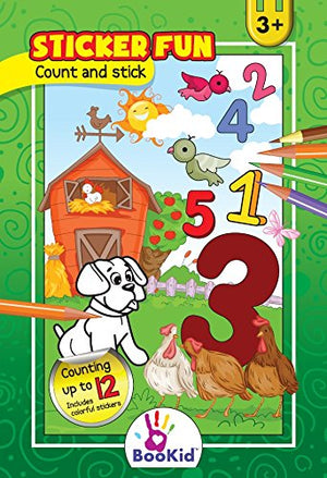 Activity Books For Kids Age 3-4 - Pack of 4 Includes It's Fun to Color by Color, How to Solve a Maze, Calculate and Stick, Count and Stick