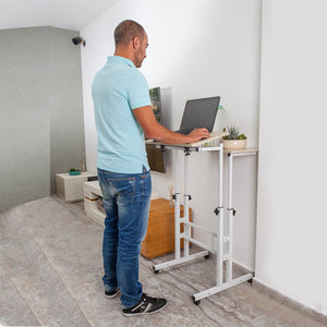 STANDING TABLE COMPUTER DESK - WHITE