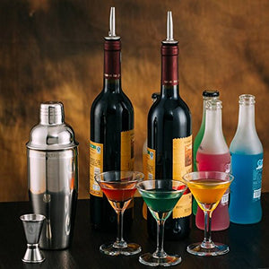 SHIKSHOOK Cocktail Shaker 25oz & Double Jigger Martini Drink Mixer Barware