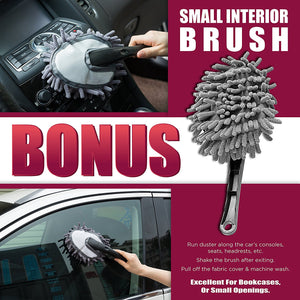 Car & Home Duster, 2 Piece Exterior & Interior Lint Free, Wax Free Cleaning Brushes