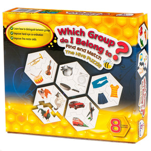 Find and Match Toddlers Puzzle Games - Which Group Do I Belong To? For 2.5+ Years Old