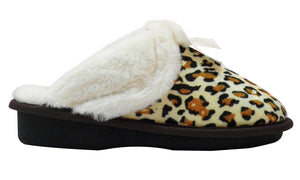 Aski Slippers- Bow Cozy, Super Comfy Slippers For Women - Faux Fur with Memory Foam Cushioning Footwear