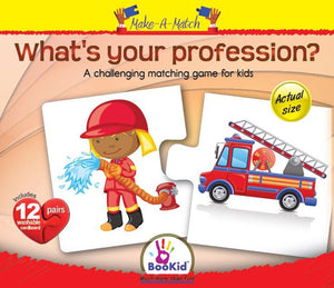 Make A Match Baby Puzzle Games - What's Your Profession?. For 3+ Years Old