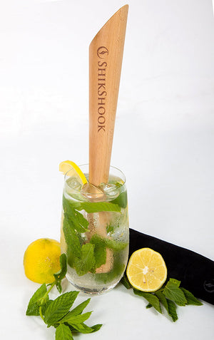 Mojito Muddler 11.5 In Professional - Best Drinks and Cocktails Bar Tool By SHIKSHOOK