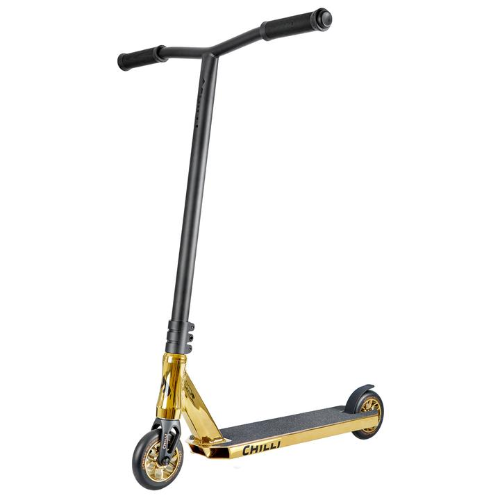 Chilli Pro All Star Crown Reaper Complete Scooter | Gold & Black Stunt Performance Scooter