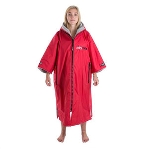 Women's Dryrobe Advance Short Sleeve Red & Grey Large