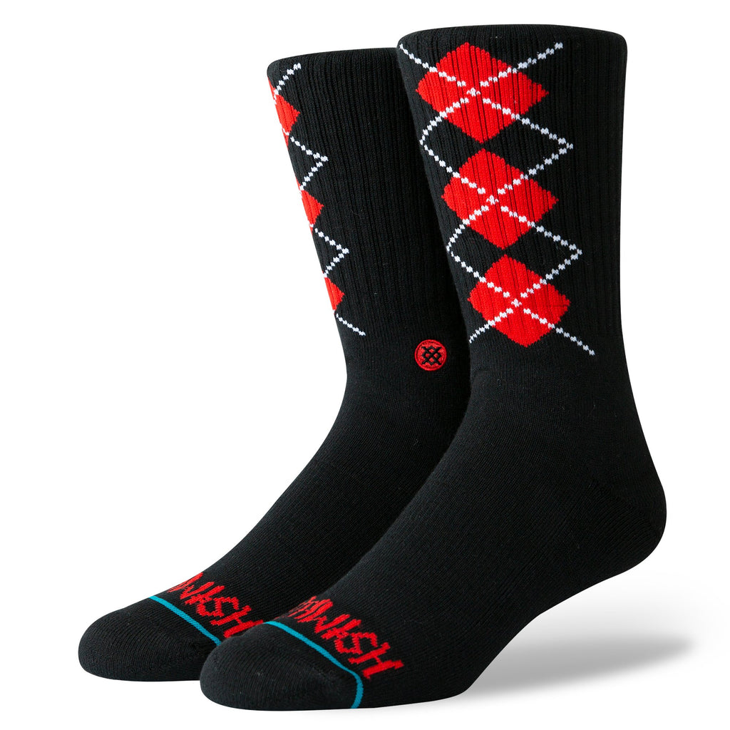 Stance Deathwish Socks | Black & Red - TVSC