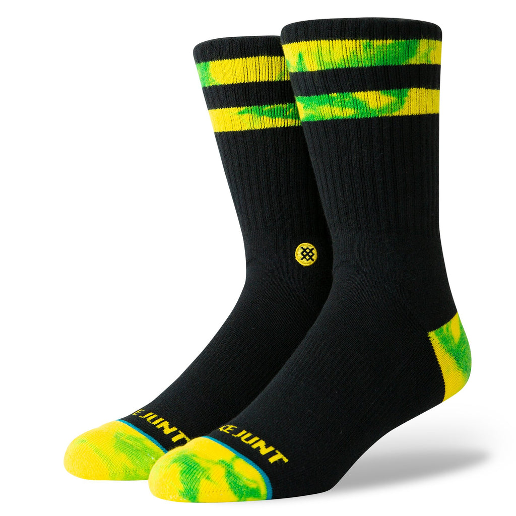 Stance Socks Shake Junt | Black & Yellow Pair