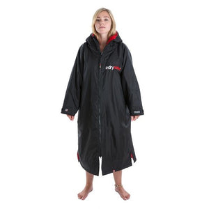 Womens Dryrobe Advance Long Sleeve Black & Red Large