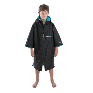 Kid's Dryrobe Advance Short Sleeve Black & Blue X-Small | Rad Girl