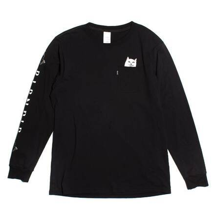 Rip N Dip Womens Lord Nermal Long Sleeve Pocket T-Shirt | Black