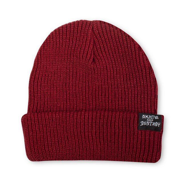 Thrasher Womens Skate And Destroy Beanie | Maroon