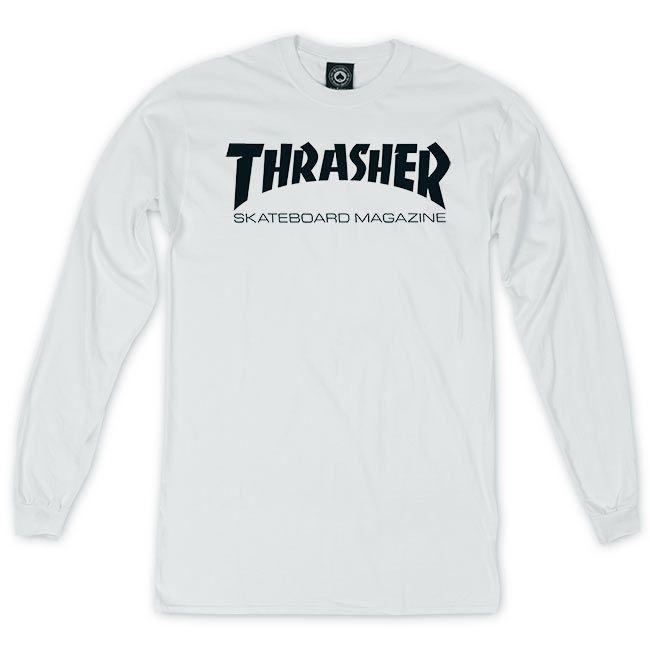 Thrasher Skate Mag Long Sleeve T-Shirt | White