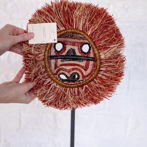 MASQUE TRIBAL SINGE ROUGE / RED MONKEY TRIBAL MASK