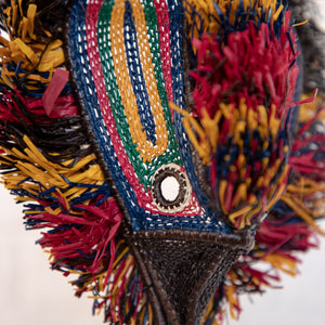 MASQUE TRIBAL OISEAU MULTICOLORE / MULTICO BIRD TRIBAL MASK