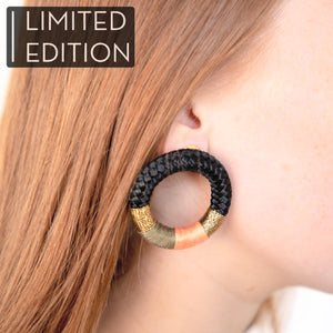 PICHULIK x A BELLULA - BO ANNEAU EDITION LIMITEE / LIMITED EDITION HOOPS AFRICAN EARRINGS