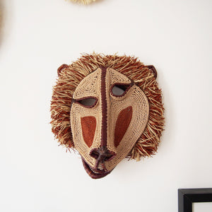 MASQUE TRIBAL DU PANAMA SINGE BORDEAUX / BURGUNDY MONKEY PANAMA TRIBAL MASK
