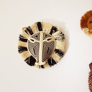 MASQUE TRIBAL SINGE NOIR & BLANC / BLACK & WHITE MONKEY TRIBAL MASK