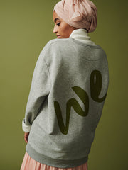 unisex organic sweat, grey sweat, ethical sweat, fair trade sweat