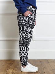 Ikat Soft Jersey Trousers