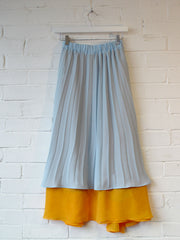 Pleated Layer Skirt Reversible