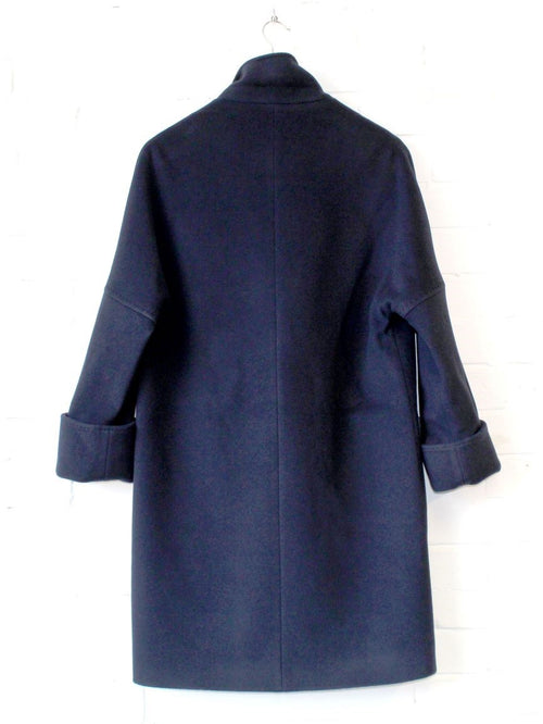Navy Wool/Cashmere Coat