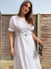 Broderie Belted Dress