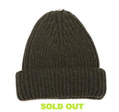 Merino Wool Beanie/ Green (without bobble)