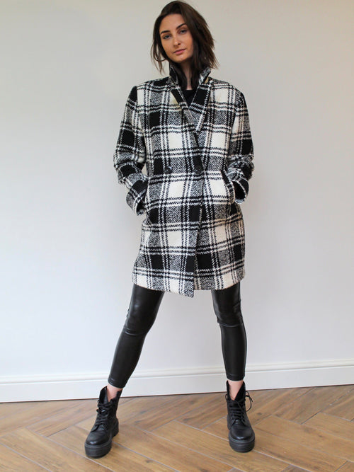 Checked Winter Coat