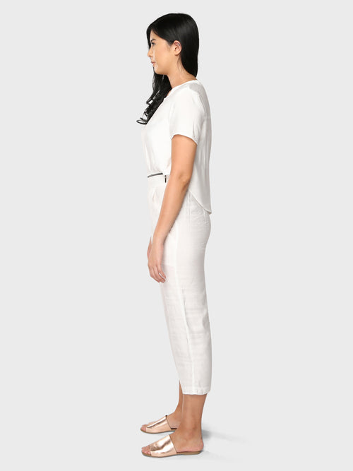 2 in 1 Zip Jumpsuit White
